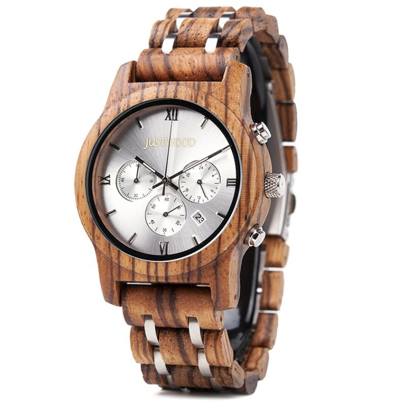 silverline mens wooden watch
