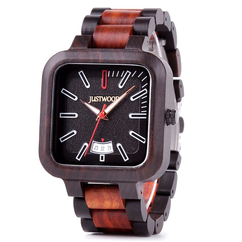 Fossil Mens Wooden Watch