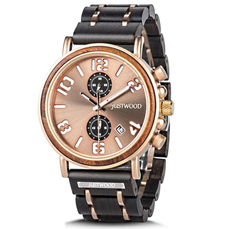 sterling mens wooden watch